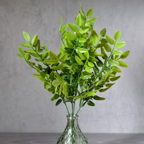 Олива куст зеленый 5 веток 30 см