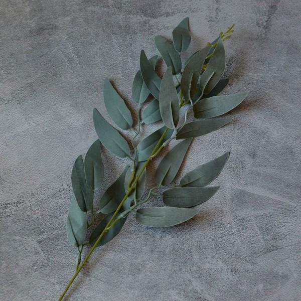 Ветка ивы дымчато-зеленая 40 см