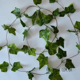 Лиана с листьями плюща зеленая 2,4 м