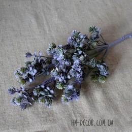 Ветка с мелкими листиками-суккулентами фиолетовая 50 см