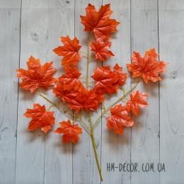 Ветка клена большая оранжевая 65 см