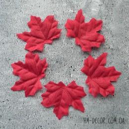 Лист клена бордовый 7*8 см 5 шт.