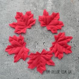 Лист клена красный 7*8 см 5 шт.