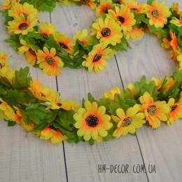 Лиана с цветами подсолнуха 1,3 м