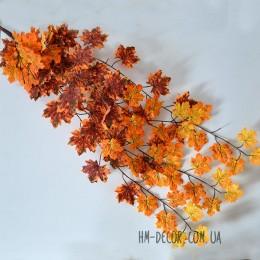 Лиана пышная с листьями клена оранжево-коричневая 1 м