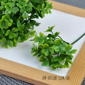 Клевер зеленый веточка 20 см